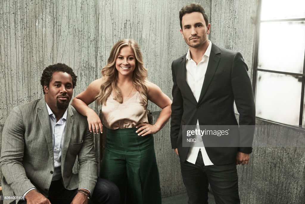 EVENTS -- NBCUniversal Portrait Studio, August 2017 -- Pictured: Shawn Johnson East, Jeremy Bloom, Dhani Jones, 'Adventure Capitalists' --