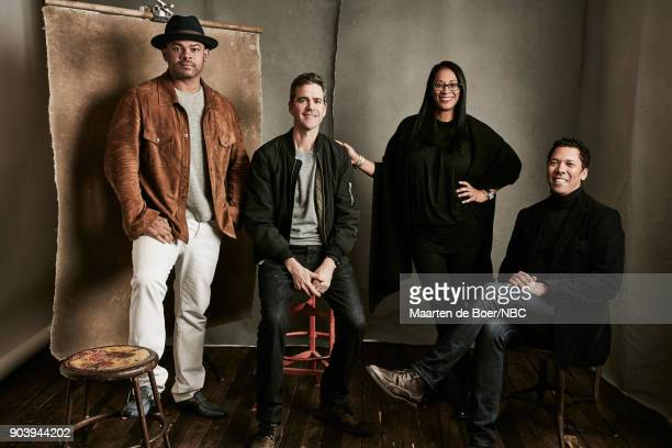 EVENTS NBCUniversal Portrait Studio January 2018 Pictured Anthony Hemingway Kyle Long Lyah Beth LeFlore Mark Taylor 'Unsolved'