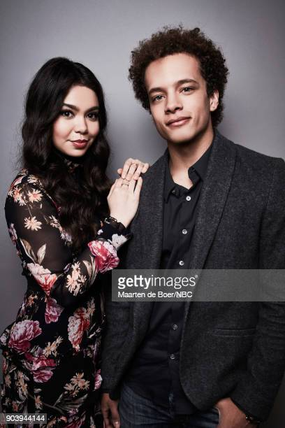 EVENTS NBCUniversal Portrait Studio January 2018 Pictured Auli'i Cravalho Damon J Gillespie 'Rise'