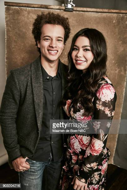 EVENTS NBCUniversal Portrait Studio January 2018 Pictured Damon J Gillespie Auli'i Cravalho 'Rise'