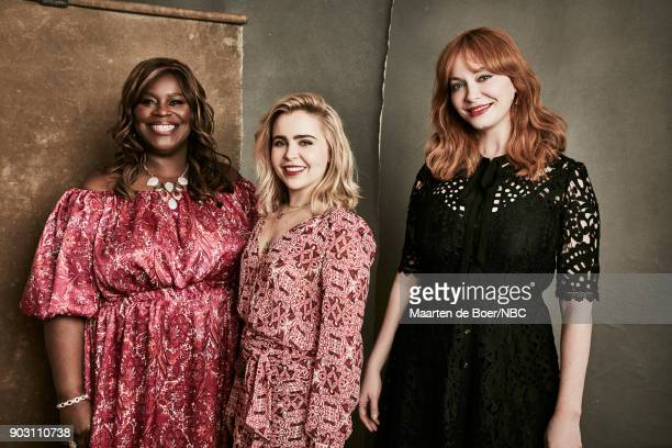 EVENTS NBCUniversal Portrait Studio January 2018 Pictured Retta Mae Whitman Christina Hendricks Good Girls