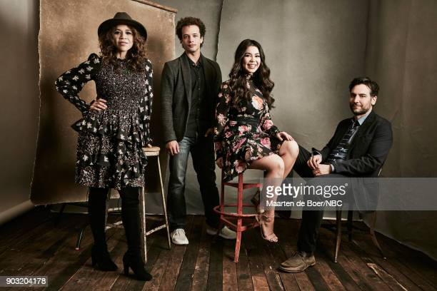 EVENTS NBCUniversal Portrait Studio January 2018 Pictured Rosie Perez Damon J Gillespie Auli'i Cravalho Josh Radnor 'Rise'