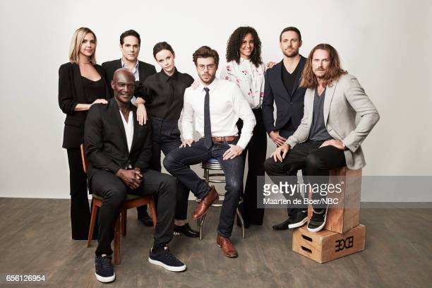 EVENTS NBCUniversal Portrait Studio March 2017 Pictured Arielle Kebbel Peter Mensah Yul Vazquez Sarah Ramos Francois Arnaud Parisa FitzHenley Dylan...
