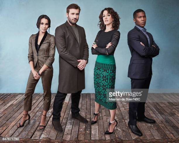 EVENTS NBCUniversal Portrait Studio March 2017 Pictured Brooklyn Sudano Clive Standen Jennifer Beals Gaius Charles Taken at the Four Seasons Hotel...