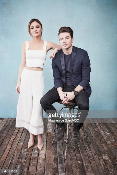 EVENTS NBCUniversal Portrait Studio March 2017 Pictured Christine Evangelista Josh Henderson 'The Arrangement' at the Four Seasons Hotel New York