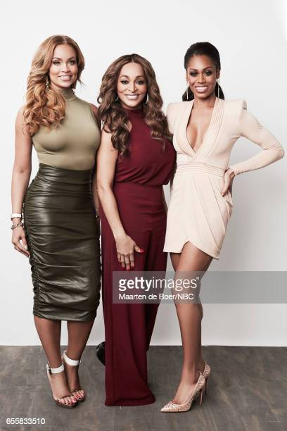 EVENTS NBCUniversal Portrait Studio March 2017 Pictured Gizelle Bryant Karen Huger Monique Samuels The Real Housewives of Potomac on March 20 2017 in...