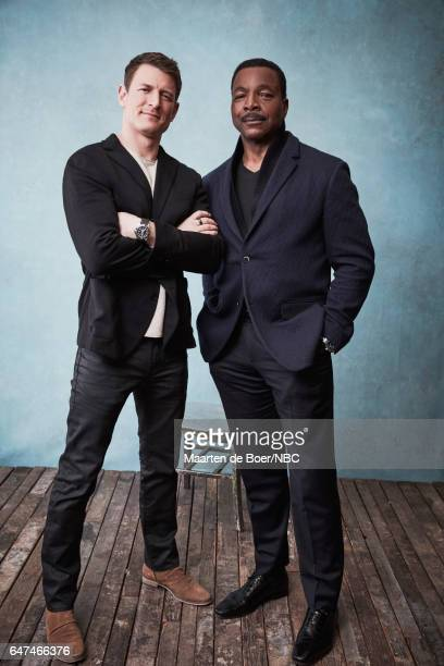 EVENTS NBCUniversal Portrait Studio March 2017 Pictured Philip Winchester Carl Weathers 'Chicago Justice' at the Four Seasons Hotel New York