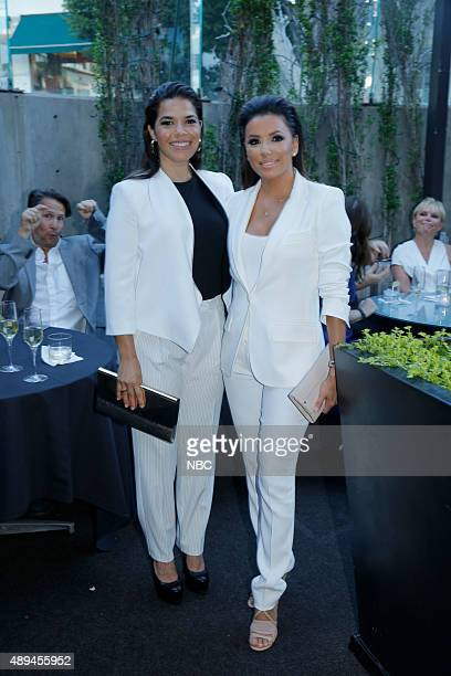 EVENTS NBCUniversal PreEmmy Party at BOA Steakhouse Pictured America Ferrera 'Superstore' Eva Longoria 'Hot and Bothered'