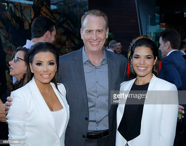 EVENTS NBCUniversal PreEmmy Party at BOA Steakhouse Pictured Eva Longoria 'Hot and Bothered' Robert Greenblatt Chairman NBC Entertainment America...
