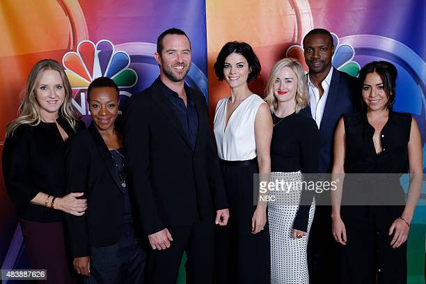 EVENTS NBCUniversal Press Tour August 2015 Blindspot Pictured Jennifer Salke President NBC Entertainment Marianne JeanBaptiste Sullivan Stapleton...