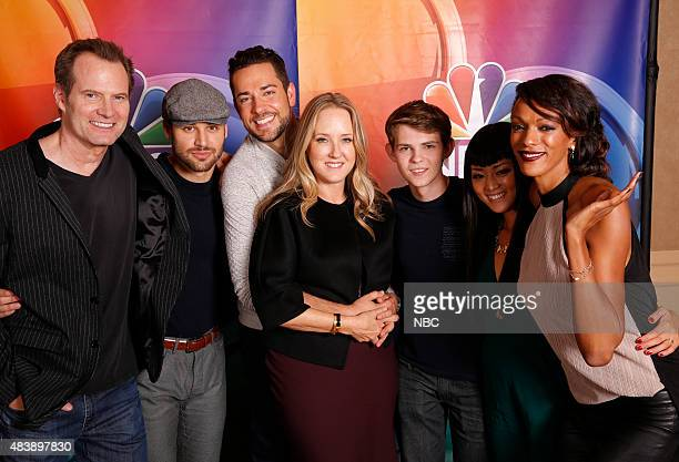 EVENTS NBCUniversal Press Tour August 2015 Heroes Reborn Pictured Jack Coleman Ryan Guzman Zachary Levi Jennifer Salke President NBC Entertainment...