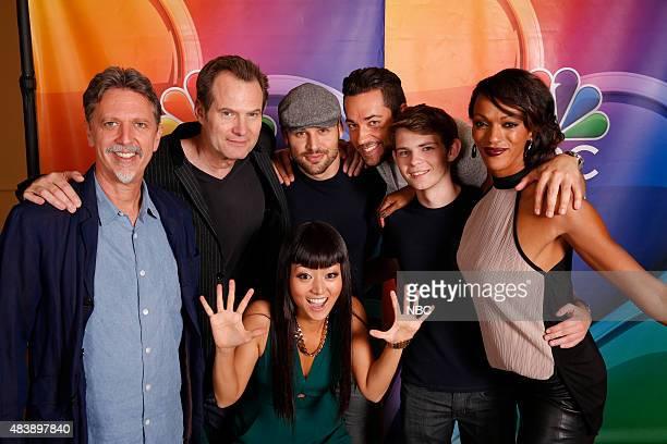 EVENTS NBCUniversal Press Tour August 2015 Heroes Reborn Pictured Tim Kring Executive Producer Jack Coleman Kiki Sukezane Ryan Guzman Zachary Levi...