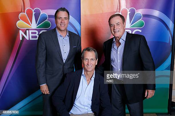 EVENTS NBCUniversal Press Tour August 2015 NBC Sunday Night Football Pictured Fred Gaudelli Coordinating Producer Chris Collinsworth Analyst Al...