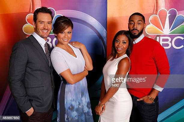 EVENTS NBCUniversal Press Tour August 2015 NBC Truth Be Told Pictured MarkPaul Gosselaar Vanessa Lachey Bresha Webb Tone Bell