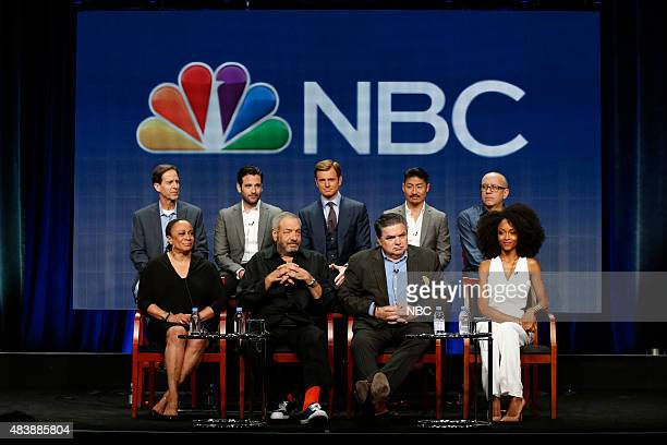"""NBCUniversal Press Tour, August 2015 -- NBC's """"Chicago Med"""" Session -- Pictured: Andrew Dettman, Executive Producer; S. Epatha Merkerson, Colin..."""