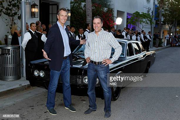 EVENTS NBCUniversal Press Tour August 2015 Spago Party Pictured Cris Collinsworth Fred Gaudelli NBC's Sunday Night Football