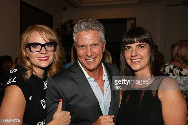 EVENTS NBCUniversal Press Tour August 2015 Spago Party Pictured Emily Tarver Donny Deutsch Angie Day Executive Producer 'USA's 'donny'