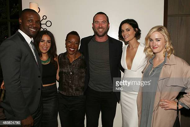 EVENTS NBCUniversal Press Tour August 2015 Spago Party Pictured Rob Brown Audrey Esparza Marianne JeanBaptiste Sullivan Stapleton Jaimie Alexander...