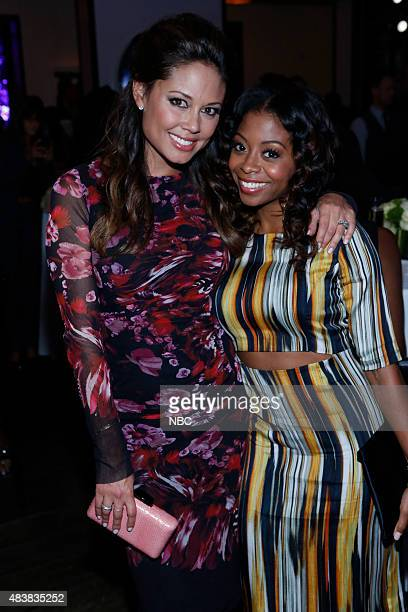 EVENTS NBCUniversal Press Tour August 2015 Spago Party Pictured Vanessa Lachey Bresha Webb NBC's Truth Be Told