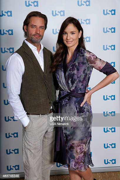 EVENTS NBCUniversal Press Tour August 2015 USA 'Colony' Pictured Josh Holloway Star Sarah Wayne Callies Star