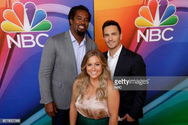 EVENTS NBCUniversal Press Tour August 2017 Adventure Capitalists cast Pictured Dhani Jones Shawn Johnson East Jeremy Bloom