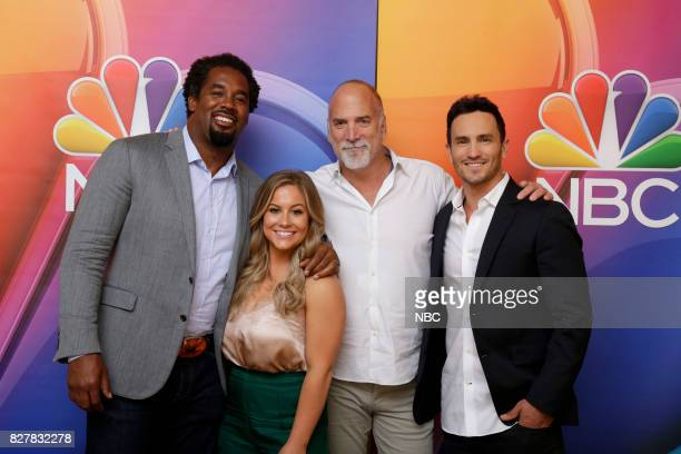 EVENTS NBCUniversal Press Tour August 2017 CNBC's Adventure Capitalists cast Pictured Dhani Jones Shawn Johnson East Jim Ackerman Executive Vice...