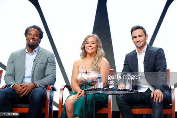 EVENTS NBCUniversal Press Tour August 2017 CNBC's Adventure Capitalists Session Pictured Dhani Jones Talent / Investor Shawn Johnson East Talent /...