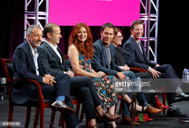 EVENTS NBCUniversal Press Tour August 2017 NBC's 'Will Grace' Session Pictured David Kohan Cocreator/Executive Producer Max Mutchnick...