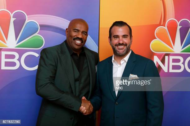 EVENTS NBCUniversal Press Tour August 2017 STEVE cast Pictured Steve Harvey Host/Executive Producer Shane Farley Executive Producer
