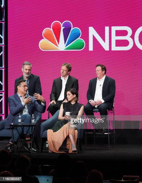 EVENTS NBCUniversal Press Tour August 2019 NBC's Bluff City Law Panel Pictured Jimmy Smits Michael Aguilar Executive Producer Dean Georgaris...