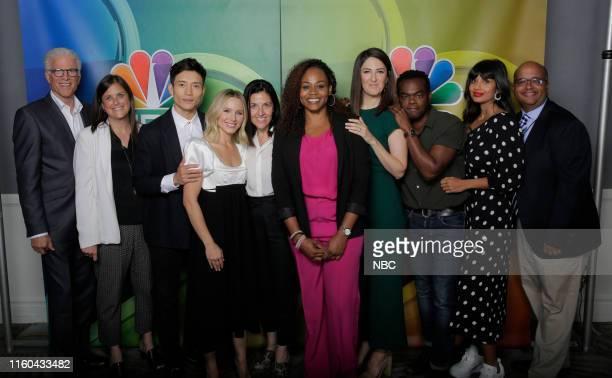 EVENTS NBCUniversal Press Tour August 2019 NBC's The Good Place Pictured Ted Danson Lisa Katz CoPresident NBC Entertainment Manny Jacinto Kristin...