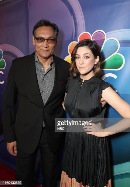 EVENTS NBCUniversal Press Tour August 2019 Red Carpet Pictured Jimmy Smits Caitlin McGee Bluff City Law