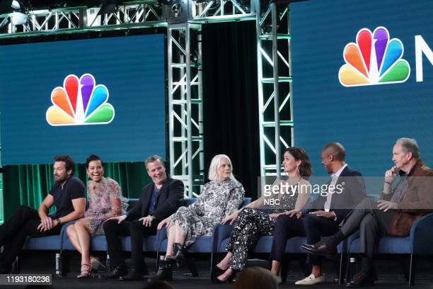 "NBCUniversal Press Tour, January 11, 2020 -- NBC's ""Council of Dads"" Session -- Pictured: Clive Standen; Michele Weaver; Tony Phelan, Executive..."