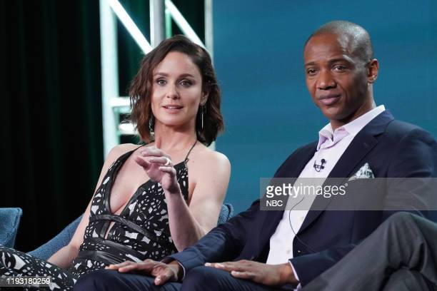 EVENTS NBCUniversal Press Tour January 11 2020 NBC's Council of Dads Session Pictured Sarah Wayne Callies J August Richards