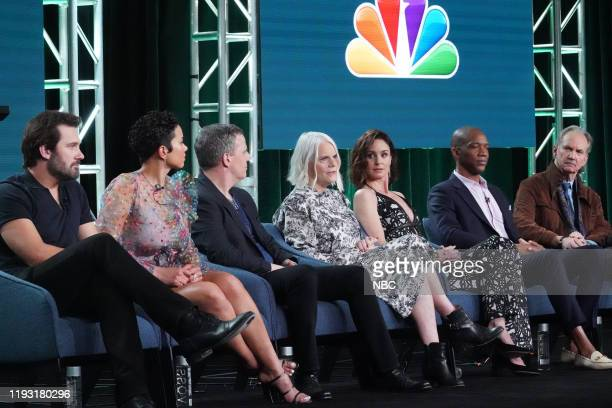 EVENTS NBCUniversal Press Tour January 11 2020 NBC's Council of Dads Session Pictured Clive Standen Michele Weaver Tony Phelan Executive Producer...