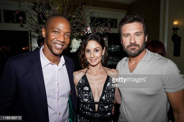 EVENTS NBCUniversal Press Tour January 11 2020 NBCUniversal Party Pictured J August Richards Sarah Wayne Callies Clive Standen Council of Dads