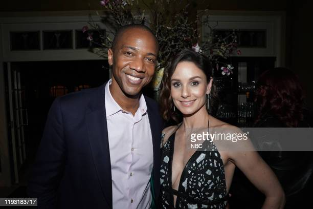 EVENTS NBCUniversal Press Tour January 11 2020 NBCUniversal Party Pictured J August Richards Sarah Wayne Callies Council of Dads