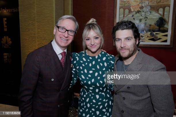 EVENTS NBCUniversal Press Tour January 11 2020 NBCUniversal Party Pictured Paul Feig Executive Producer Zoey's Extraordinary Playlist Abby Elliott...