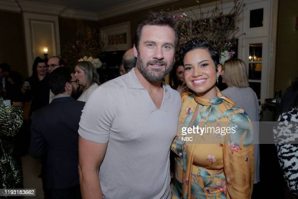 EVENTS NBCUniversal Press Tour January 11 2020 NBCUniversal Party Pictured Clive Standen Michele Weaver Council of Dads