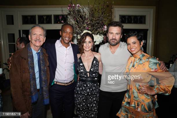 EVENTS NBCUniversal Press Tour January 11 2020 NBCUniversal Party Pictured Michael O'Neill J August Richards Sarah Wayne Callies Clive Standen...