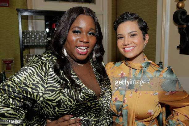 EVENTS NBCUniversal Press Tour January 11 2020 NBCUniversal Party Pictured Alex Newell Zoey's Extraordinary Playlist Michele Weaver Council of Dads