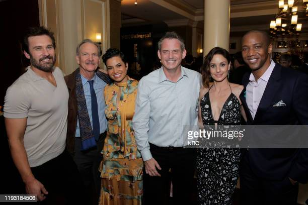 EVENTS NBCUniversal Press Tour January 11 2020 NBCUniversal Party Pictured Clive Standen Michael O'Neill Michele Weaver Paul Telegdy Chairman NBC...
