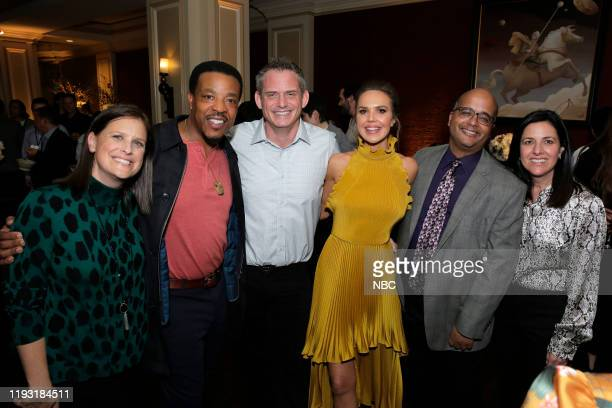 EVENTS NBCUniversal Press Tour January 11 2020 NBCUniversal Party Pictured Lisa Katz CoPresident Scripted Programming NBC Entertainment Russell...