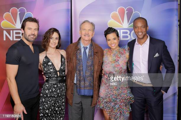 EVENTS NBCUniversal Press Tour January 11 2020 Pictured NBC' s Council of Dads cast Clive Standen Sarah Wayne Callies Michael O'Neill Michele Weaver...