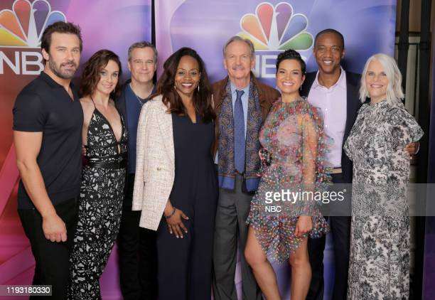EVENTS NBCUniversal Press Tour January 11 2020 Pictured NBC' s Council of Dads cast Clive Standen Sarah Wayne Callies Tony Phelan Executive Producer...