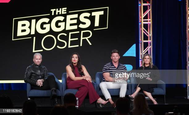 EVENTS NBCUniversal Press Tour January 11 2020 USA Network's The Biggest Loser Session Pictured Bob Harper Erica Lugo Steve Cook Heather Olander...