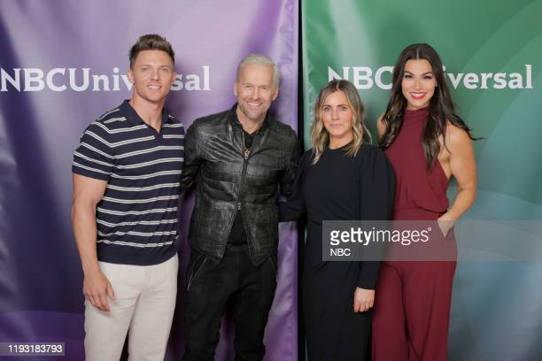 EVENTS NBCUniversal Press Tour January 11 2020 USA's The Biggest Loser Pictured Steve Cook Trainer Bob Harper Host Heather Olander Senior Vice...