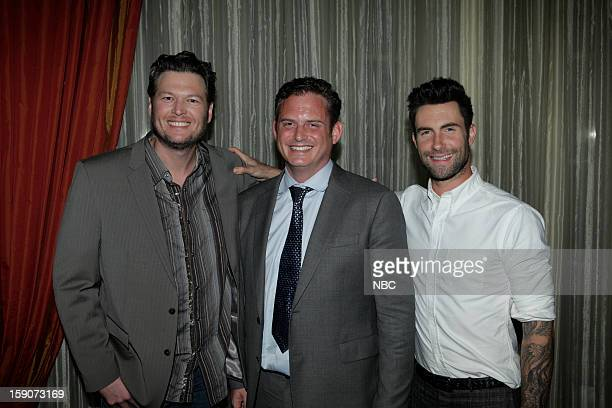 EVENTS NBCUniversal Press Tour January 2013 Evening Cocktail Reception Pictured Blake Shelton Paul Telegdy President Alternative and Late Night...