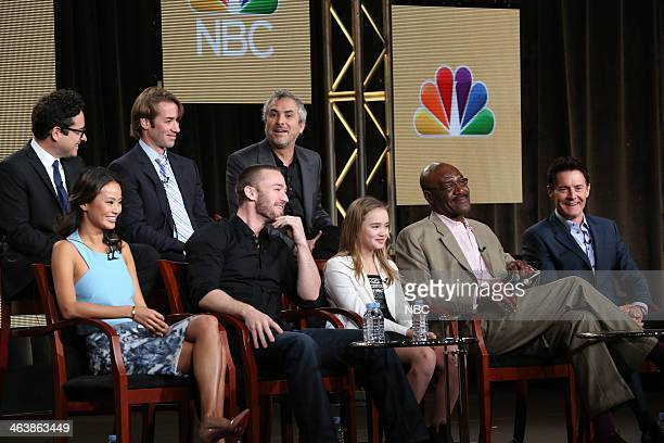 EVENTS NBCUniversal Press Tour January 2014 Believe Session Pictured Back Row Executive Producers JJ Abrams Jonas Pate Alfonso Cuaron Front Row Jamie...