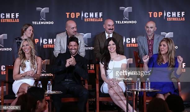 EVENTS NBCUniversal Press Tour January 2014 Top Chef Estrellas Session Pictured bottom row Aylin Mujica Hosr David Chocarro Celebrity Contestant...